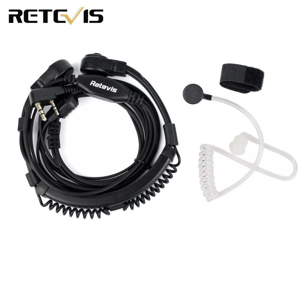 2 Pin Throat Mic PTT Headset  For KENWOOD BAOFENG BF-888S UV-5R Retevis H777 RT5R TYT Ham Radio Walkie Talkie C9026A