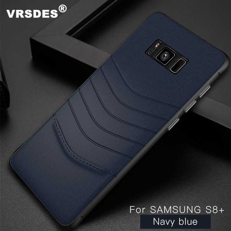 VRSDES Case for Samsung S8 Galaxy S8 Luxury PU Leather PC Phone Cases For Samsung S8