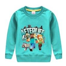 Г. Модный Стильный хлопковый свитер с надписью «afterlife» и забавным рисунком робота одежда для маленьких мальчиков теплая верхняя одежда для детей