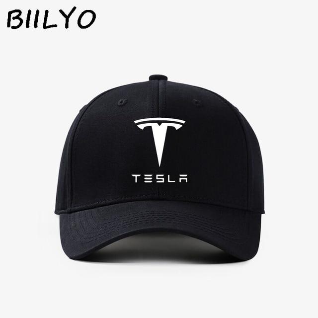 c9d6a0033b3 TESLA Car Logo Trucker Hat Mesh Flat bill Baseball Snapback Flexfit Cap NEW  Box