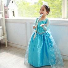 5464861b7f Meninas fantasia Princesa Anna Elsa Crianças Traje Cosplay Menina Role-play  roupa vestir Para O Carnaval Festa a fantasia do Dia.