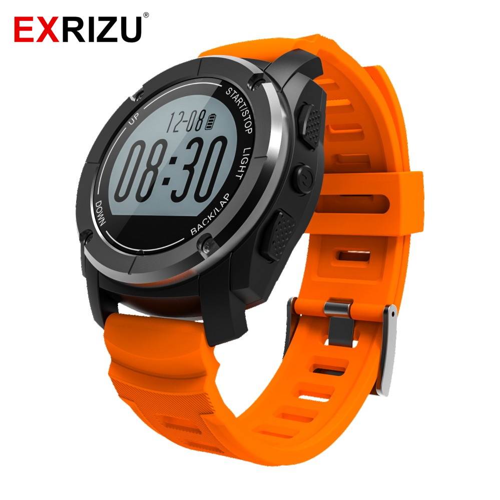 EXRIZU S928 Sport Smartwatch Waterproof Bluetooth Smart Watch GPS Real-time Heart Rate Monitor Wristband for Android iOS Phone free shipping smart watch c7 smartwatch 1 22 waterproof ip67 wristwatch bluetooth 4 0 siri gsm heart rate monitor ios