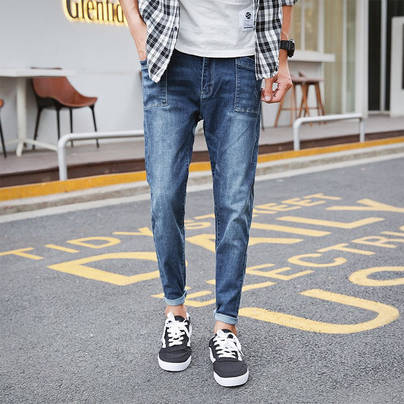 New Brand Men Korean Jeans Stretch Denim Business Slim Fit Jeans Male Casual Denim Trousers Fashion Vestidos Spring Summer 2018
