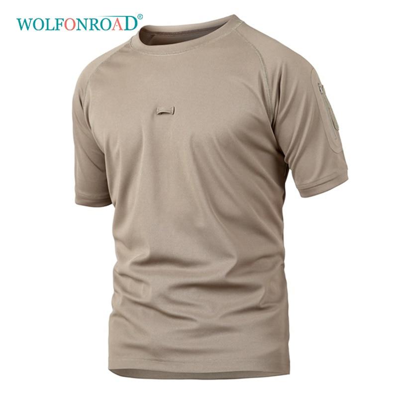 Camping & Wandern Angemessen Wolfonroad Männer Armee Hemd Outdoor Quick Dry Wandern T-shirt Militärische Taktische Kurzarm Männlichen Sport Camouflage Shirts L-ycxl-01 Zahlreich In Vielfalt Wander-t-shirt