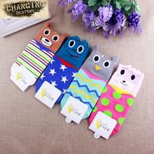 Fashion Women Creative Cotton Socks Girl Cute Cartoon Animals Cotton Hosiery Sock