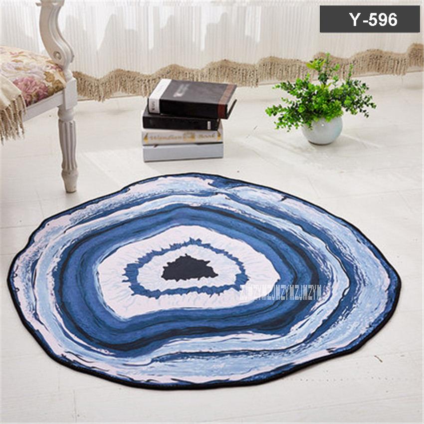 Nouveau X57 nordique maison tapis doux moderne minimaliste anti-dérapant 120 CM tapis de sol rond étude chambre salon tapis enfants tapis