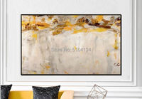 Hot art Hand painted Abstract yellow Oil Paintings Abstract canvas Oil Painting wall painting for Living Room home Decoration