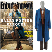 Men's Suit Fantastic Beasts and Where to Find Them Newt Scamand Cosplay Costume Party Trench Set Business Blazer Custom made