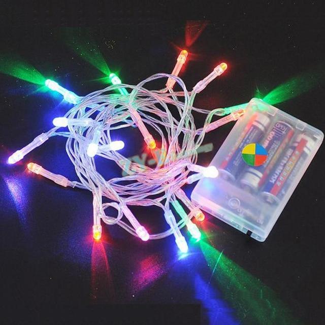 a9423be3ef277 100 unids Cadena de luz LED luz de la batería 3 M 30 LEDs Navidad luces