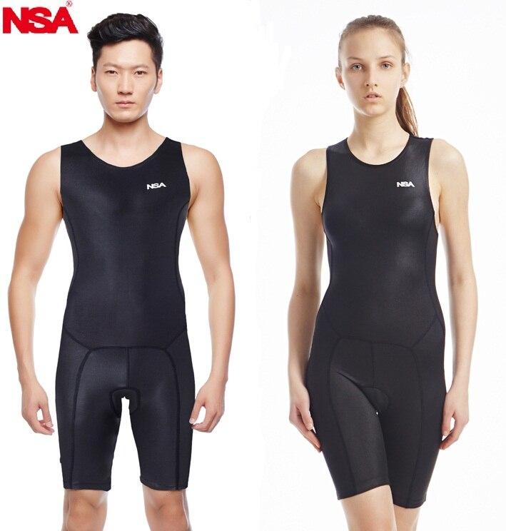 NSA womens one piece triarthlon suit Ironman swimwear competitive swimming racing swimsuits suit women swimsuit knee girls swim