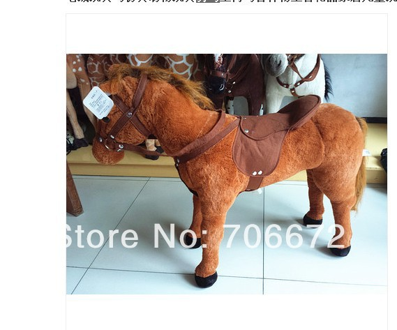 Simulation animal  horse plush toy huge 80x65cm doll whinny neigh musical toy  load-bearing  as 100kg children favorite gift t83 super cute plush toy dog doll as a christmas gift for children s home decoration 20