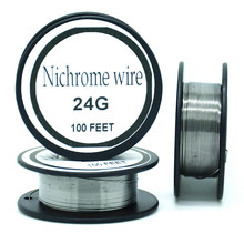Nichrome wire 24 Gauge 100 FT 0.5mm Cantal Resistance Resistor AWG   DIY atomizing core