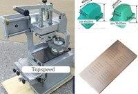 Máquina de impresión de almohadilla de taza para tinta sellada Manual, 2 almohadillas de goma y una placa de cliche, Combo 3 en 1