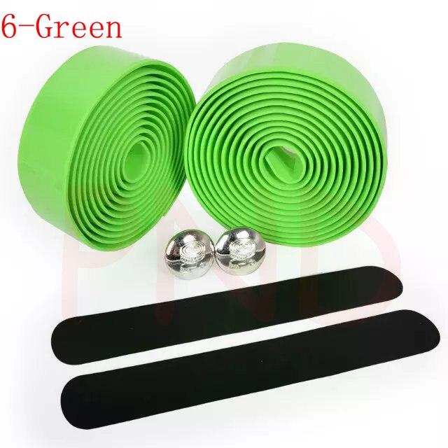 Лента на руль для шоссейного велосипеда камуфляжная велосипедная ручка на ремне пробковая обмотка с заглушками 17 цветов FZE001 - Цвет: 6 Green