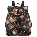 New Arrival Vintage Bohemian Beautiful Floral Flower Print Jacquard Backpack Bolsa Feminina Mochila Backpacks For Teenage Girls