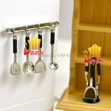 1:12 Dollhouse Miniature Kitchenware Kitchen Utensil Stand/Hanging Cooking Utensils  Set Accessories Toys