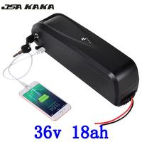 Frete Grátis 36V18Ah bateria de lítio bicicleta elétrica 18650 v 500 w com 5 36 v Carregador USB + 2A 36 v E moto bateria|Bateria de bicicleta elétrica| |  -