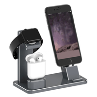 Hot New 3in1 Charger Dock Stand Holder For Phone for Airpods for AppleWatch Aluminium Alloy Stand Cable Organizer Station Holder