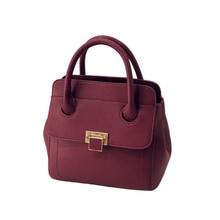 Retro Classy Hand Bag Female Embossing Ladylike font b Handbag b font Women Black Purple PU