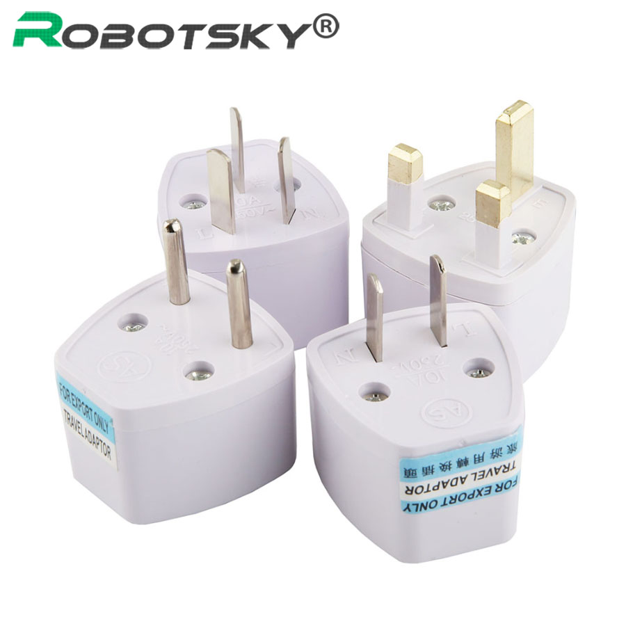 1PCS Universal EU AU UK to EU Plug Socket Portable Travel Wall Charger Converter High Quality