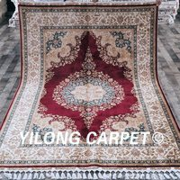 Yilong 5.6'x8.3' Classical Oriental Turkish Design Handknotted Handmade Rugs For Sale(CQG33A5.6x8.3)