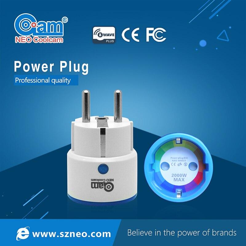 Neo coolcam z-onda UE smart power plug socket compatible con z-onda 300 y 500 serie automatización del sistema de alarma casera