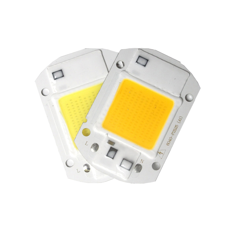 High Power LED Chip 20W 30W 50W Cold/Warm White 5000lm Lamp Beads LED COB Chip 220V 110V For DIY Projector LED Flood Light