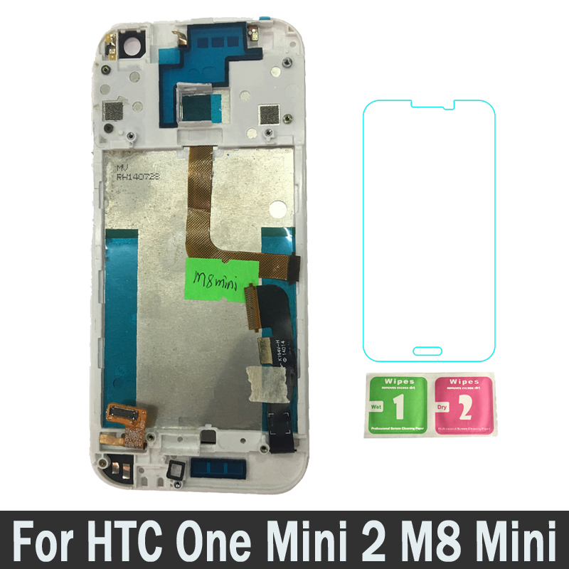 High Quality New LCDs With Frame For HTC One Mini 2 M8 Mini Lcd Display Touch Screen Digitizer Replacement Parts Assembly