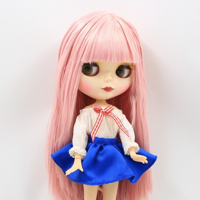 TBL Neo Blythe Doll Light Pink Hair