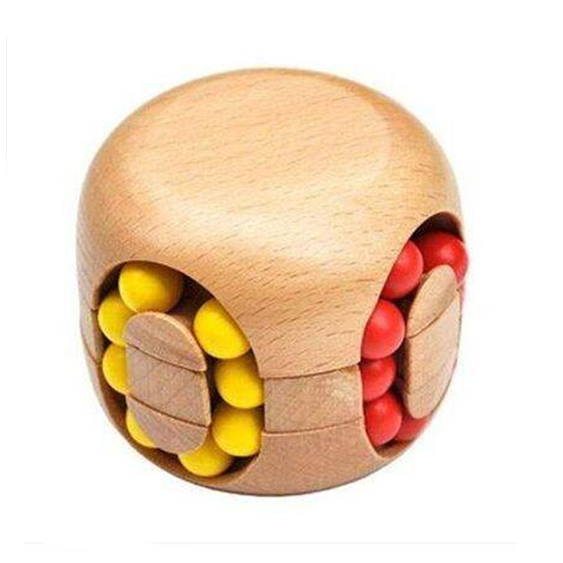 BEIOUFENG Classic IQ Wood Game Mind Brain Teaser Beads Wooden Puzzles for Adults,Educational 3D Puzzle Board Games for Children classic peg solitaire solo noble puzzle iq mind brain teaser puzzles board wooden game toys for adults children