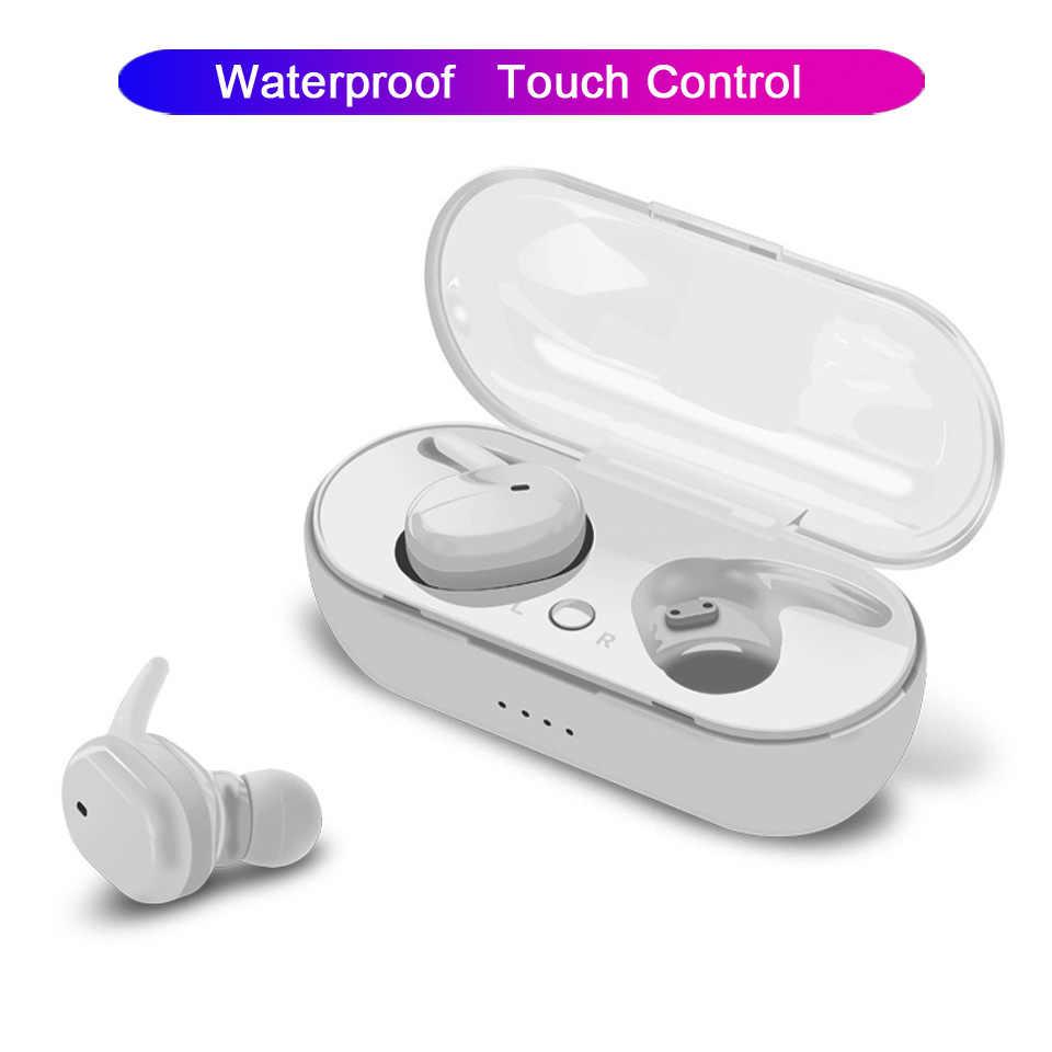 TWS4 指紋タッチ Bluetooth イヤホン HD ステレオワイヤレスヘッドフォン防水 IPX4 3D ステレオデュアルマイク