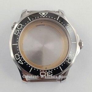 Image 5 - Sıcak Satış 41mm gümüş saat Durumda Süper Parlak Çerçeve Fit ETA 2836 MIYOTA 8215 821A Otomatik Hareket