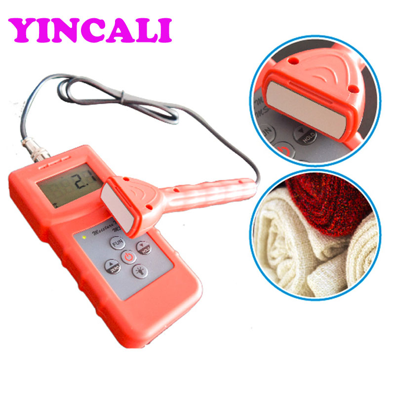 High Accuracy Inductive Portable Moisture Meter MS310-S For Textile Measuring range 0-99% 4 digital LCD 4 8 days arrival lb92t portable sweetness tester brix meter with measuring range 58 92