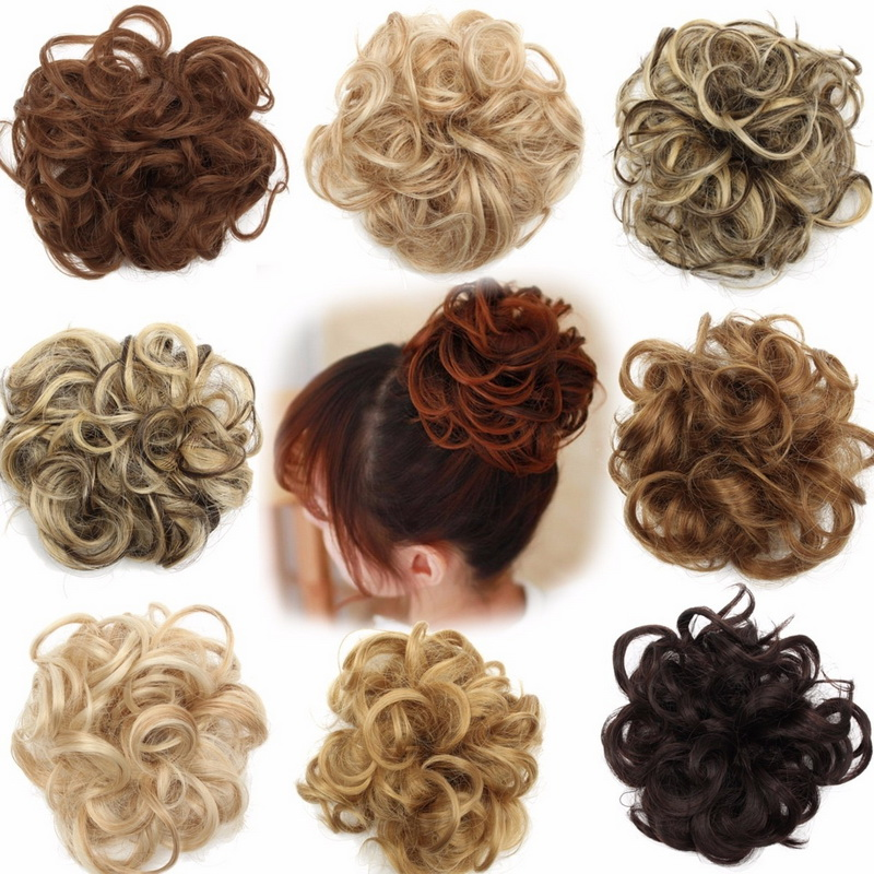 Synthetic Ponytails Hair Extensions & Wigs 2019 Fashion Alileader 2pcs Pince Afro Haar Chingon Half Up Messy Bun Hair Scrunchies Donut Chignon Blonde Hairpiece For Women Hari Extension Various Styles