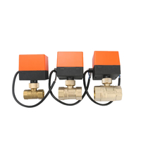 1PC AC 220V Electric Ball Valve, 3 Wires 2 Control ,Switch Type Electric Two way Valves