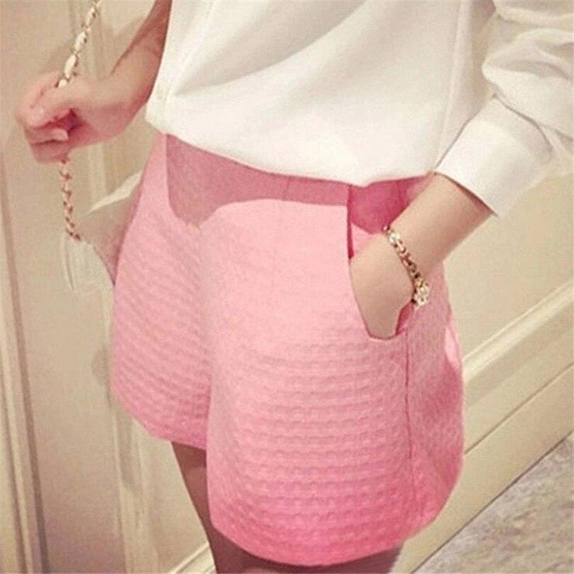 YRRETY Fashion Women Plaid Shorts Casual Loose Elastic Waist All-Match Summer Pocket Cotton Short Plus Size 4XL Candy Color New