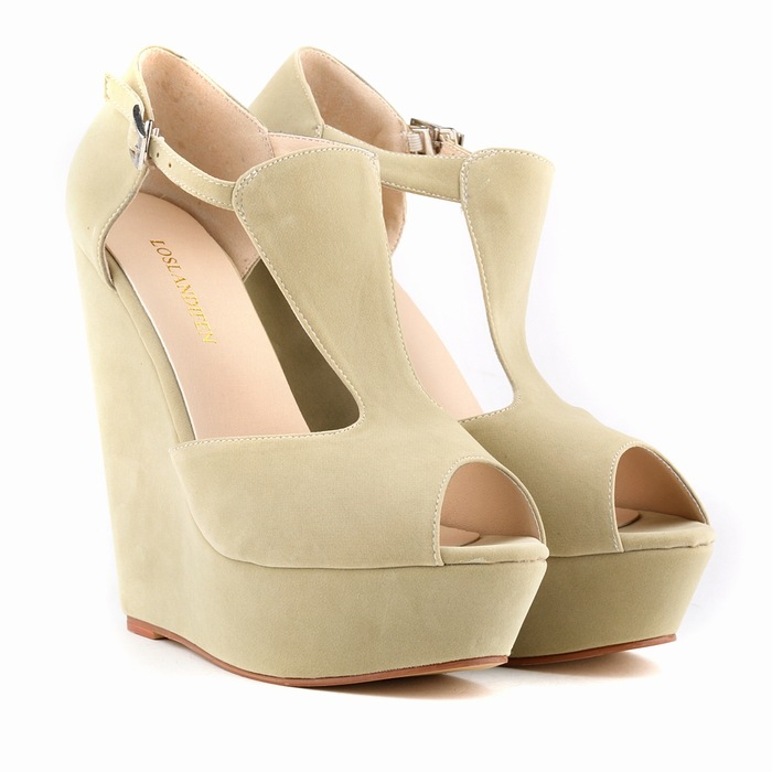 Spring summer new fashion sexy women pumps peep toe wedges platforms high heels sandals shoes woman buckle 35 42