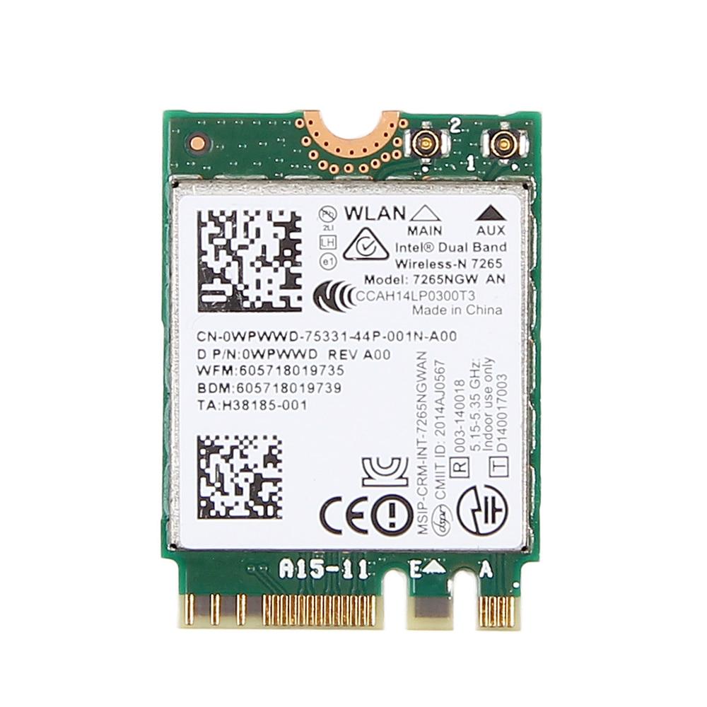 Doble banda 300 Mbps Wifi Bluetooth 4,0 para Intel 7265 7265NGW AN NGFF 2,4 GHz/5 GHz inalámbrico-N 802.11a/g/n Wlan Wifi Mini tarjeta Wlan