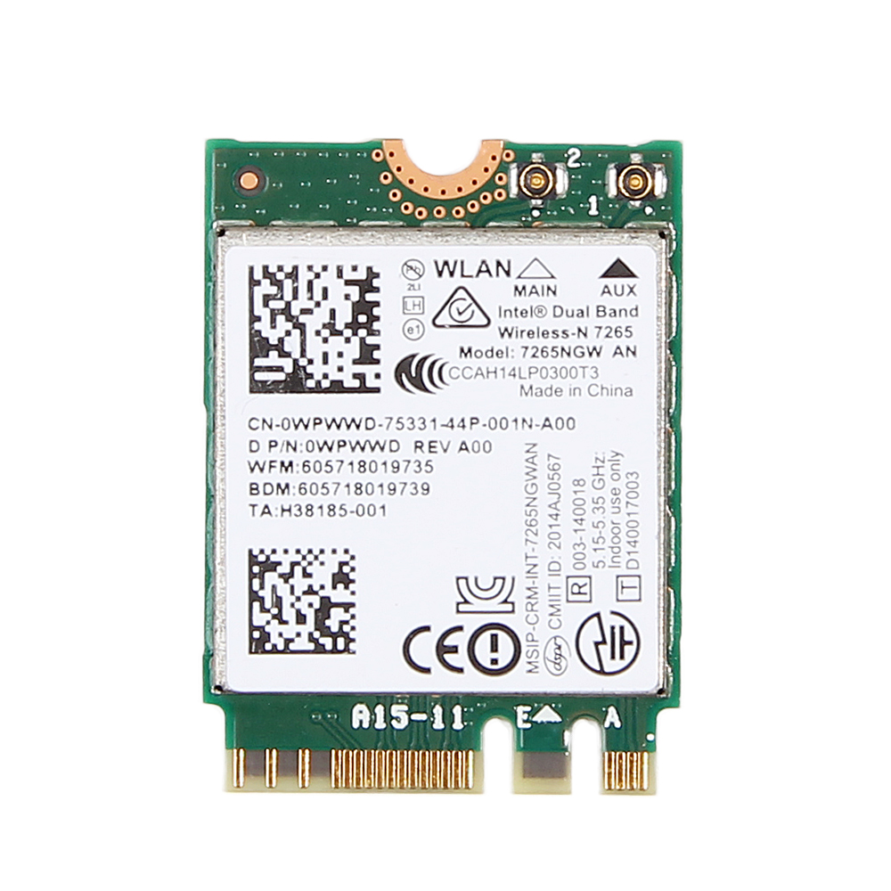 Dual band 300Mbps Wifi Bluetooth 4.0 For Intel 7265 7265NGW AN NGFF 2.4Ghz/5Ghz Wireless-N 802.11a/g/n Wlan Wi-fi Mini Wlan Card for ar9160 mini pci 300mbps 802 11a b g n wireless wlan wifi card network card wi fi adapter