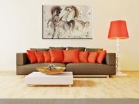 Hand Painted Wall Art Canvas Arabian Horses Oil Painting on Canvas Abstract Equine Oil Painting Artwork Decorative Home Hotel