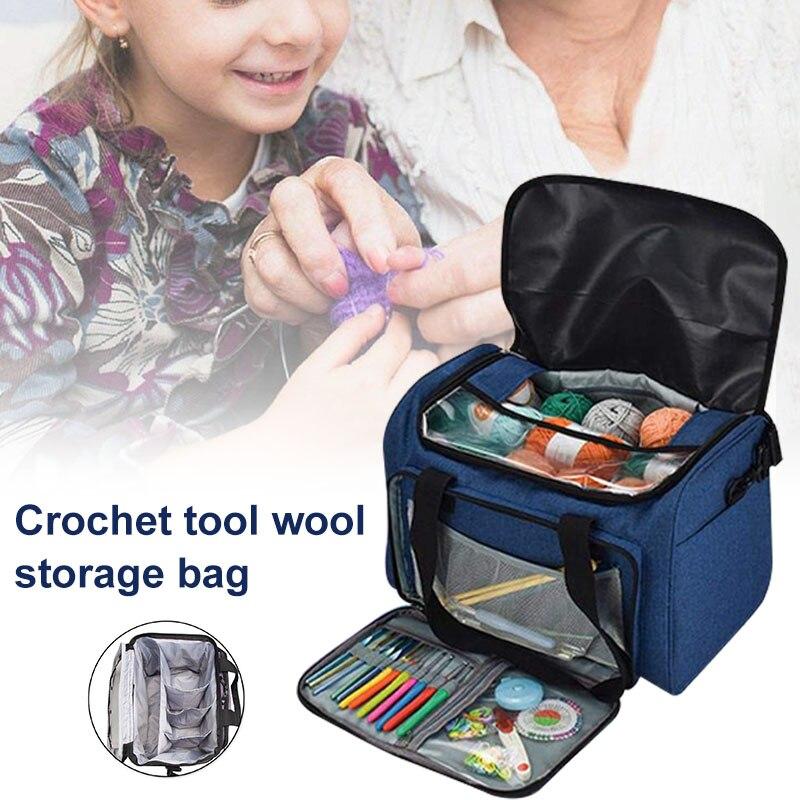 Waterproof Crocheting Supplies Storage Bag with Handles Zip for Travel 2019ing