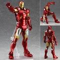 Los vengadores de mediana edad de Ultron Iron Man MK42 marca bowl XLIII armadura Figma 217 PVC 16 cm Action Figure Collection Toy Doll