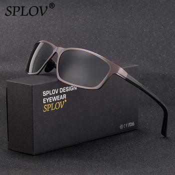 SPLOV Nouvelle Mode Hommes Polarisées lunettes de Soleil Femmes En Aluminium Magnésium Printemps Jambes Rectangle Lunettes de Soleil Lunettes De Sport UV400