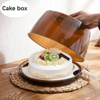 Portable Hand held packaging Cookie Macarons Box Cake box Chocolate Muffin Biscuits Box gift packaging box 8 inches 10inches