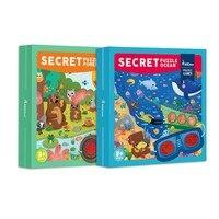 포레스트 정글 오션 35 pcs 대형 퍼즐 플러스 안경 탐험 어린이 교육 완구 아기 유치원 생일 크리스마스 선물