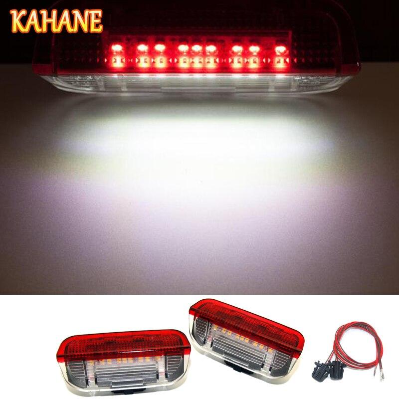 KAHANE 2x LED D'avertissement de Porte de Voiture Lumière Aucune Erreur Courtoisie Sous La Porte De Lumière POUR VW Passat B6 B7 Golf 5 6 7 Jetta MK5 CC Tiguan
