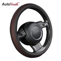 AUTOYOUTH Pokrywa Koła Kierownicy Samochodu Mała Czerwona Plama Z Czarnym Średnicy 38 cm Wnętrz Samochodowych Akcesoriów Dla Toyota Lada VW