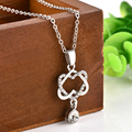 New Charms lady Double Heart Rhinestone Pendant Necklace Necklaces & Pendants Jewelry for Women Sweater necklace