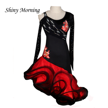 New Latin Dance Dress Women Women Dance Wear Regata Feminina Roupa De Ginastica Vestido De Baile Lady Latino Dance Costume LQ031