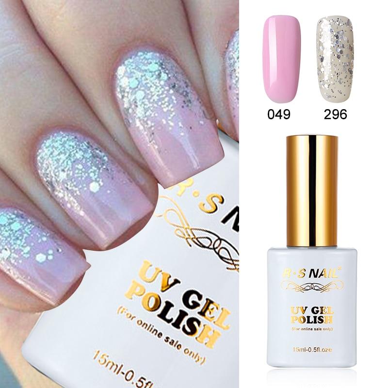 Rs Nail: RS Nail Newest Color Gel Nail Polish No.049+296 UV LED